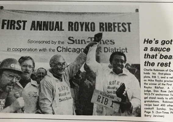 Charlie Robinson Winning at the Mike Royko Fest